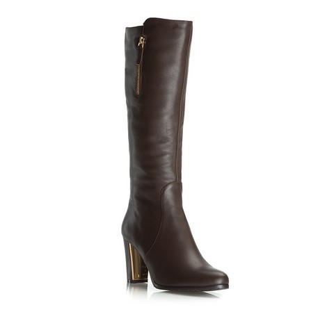 Women's shoes, dark brown, 81-D-607-4-35, Photo 1