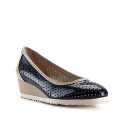 Women's shoes, navy blue-beige, 82-D-108-7-39, Photo 1