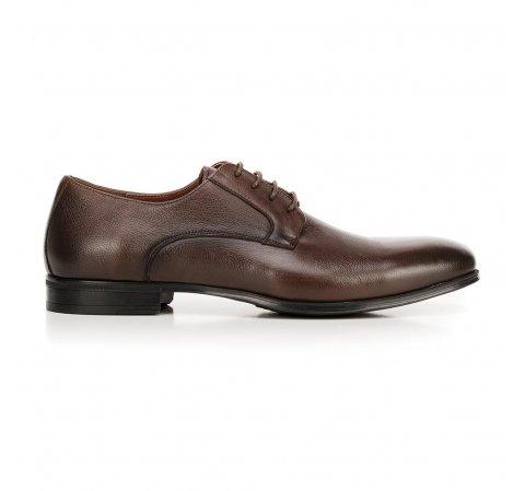 Buty do garnituru skórzane klasyczne, Brązowy, 92-M-918-1-40, Zdjęcie 1