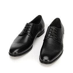Buty do garnituru skórzane klasyczne, czarny, 92-M-918-1-44, Zdjęcie 1