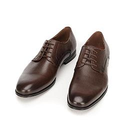 Buty do garnituru skórzane klasyczne, brązowy, 92-M-918-4-45, Zdjęcie 1