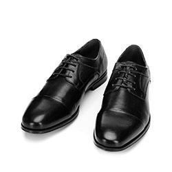 Buty do garnituru z tłoczonej skóry, czarny, 92-M-917-1-41, Zdjęcie 1