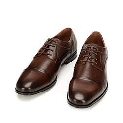 Buty do garnituru z tłoczonej skóry, jasny brąz, 92-M-917-4-40, Zdjęcie 1