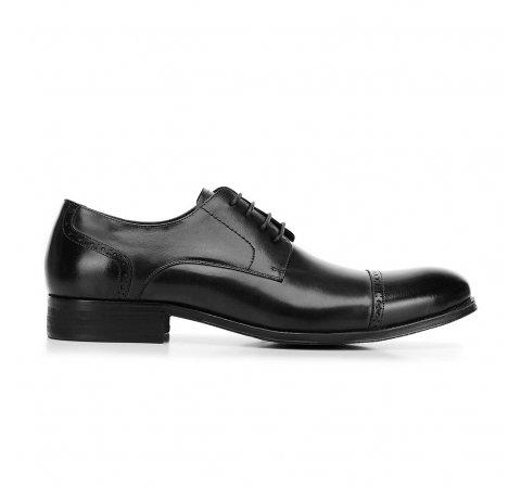 Buty do garnituru ze lśniącej skóry, czarny, 92-M-916-5-42, Zdjęcie 1