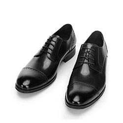 Buty do garnituru ze lśniącej skóry, czarny, 92-M-916-1-39, Zdjęcie 1