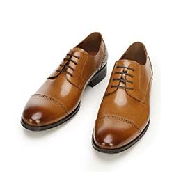 Buty do garnituru ze lśniącej skóry, brązowy, 92-M-916-5-44, Zdjęcie 1