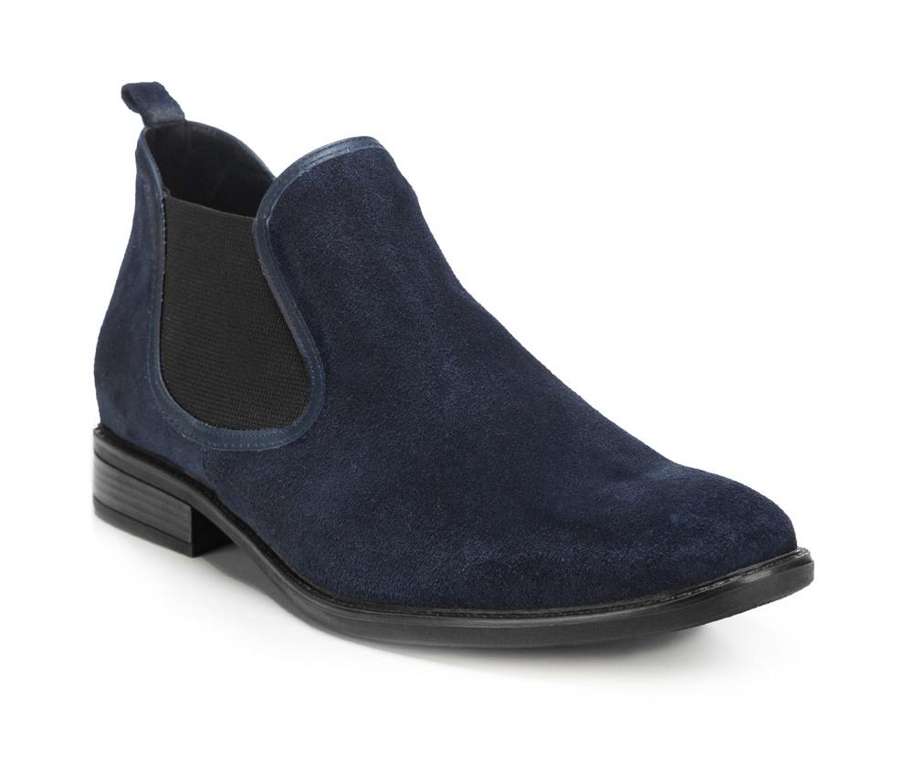 Обувь мужскаяМужские штиблеты выполнены по технологии \hand made\ из лучшей итальянской кожи.  Подошва полностью сделана из качественного синтетического материала.<br><br>секс: мужчина<br>Цвет: синий<br>Размер EU: 44<br>материал:: Натуральная кожа<br>примерная высота каблука (см):: 3