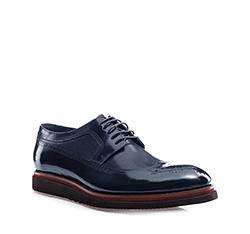 Men's shoes, navy blue, 85-M-901-7-44, Photo 1