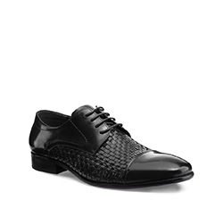 Men's shoes, black, 85-M-922-1-40, Photo 1