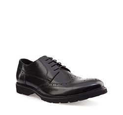 Men's shoes, black, 85-M-925-1-45, Photo 1
