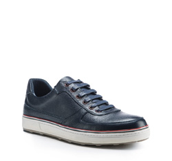 Men's shoes, navy blue, 85-M-951-7-44, Photo 1