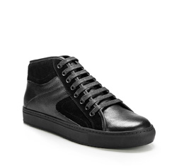 Men's shoes, black, 85-M-952-1-45, Photo 1
