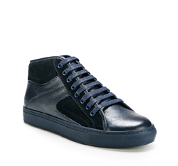 Men's shoes, navy blue, 85-M-952-7-43, Photo 1