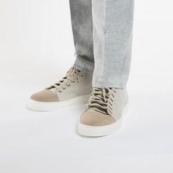 Męskie sneakersy z tkaniny i nubuku, jasny beż, 86-M-050-9-41, Zdjęcie 1