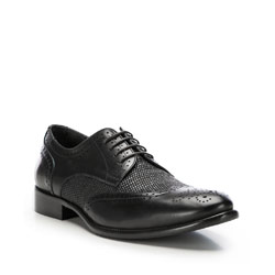 Men's shoes, black, 86-M-054-1-40, Photo 1
