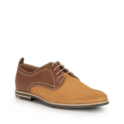 Men's shoes, light brown, 86-M-602-5-44, Photo 1