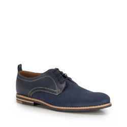 Men's shoes, navy blue, 86-M-602-7-44, Photo 1