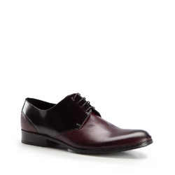 Men's shoes, burgundy-black, 86-M-606-2-44, Photo 1
