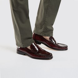 Men's shoes, burgundy, 86-M-651-2-42, Photo 1