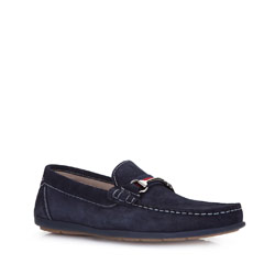 Men's shoes, navy blue, 86-M-652-7-44, Photo 1