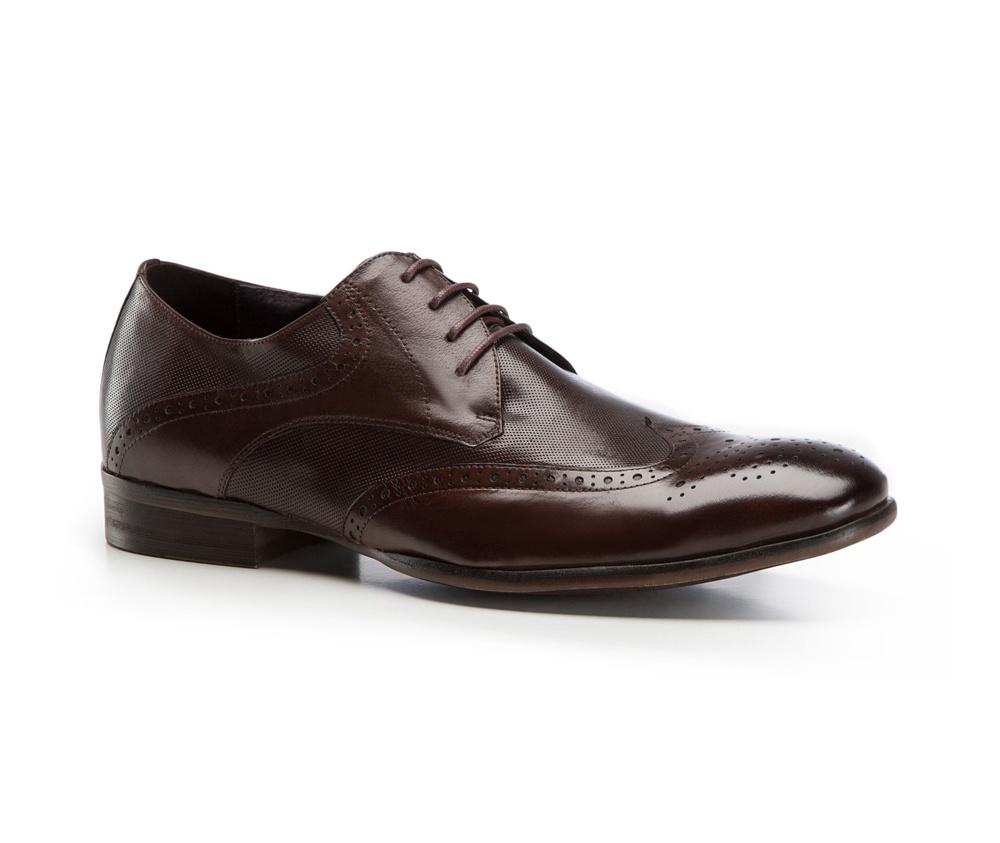 Туфли мужские  Wittchen 86-M-803-4, темно-коричневыйТуфли мужские  Wittchen 86-M-803-4, темно-коричневый<br><br>секс: мужчина<br>Цвет: коричневый<br>Размер EU: 44<br>материал:: Натуральная кожа<br>примерная высота каблука (см):: 3