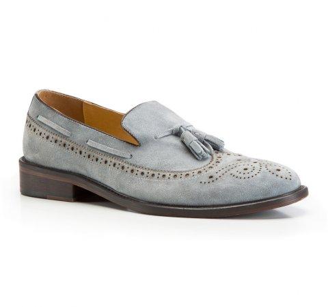Men's shoes, sky blue, 86-M-810-Z-44, Photo 1