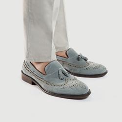 Buty męskie, błękitny, 86-M-810-8-40, Zdjęcie 1