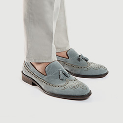 Men's shoes, sky blue, 86-M-810-8-42, Photo 1