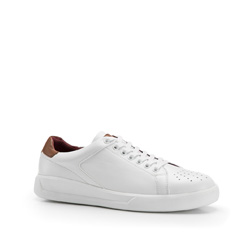 Men's leather trainers, white, 86-M-811-0-40, Photo 1