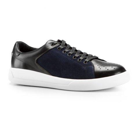 Męskie sneakersy ze skóry, czarno - granatowy, 86-M-811-0-40, Zdjęcie 1