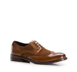 Men's shoes, light brown, 86-M-817-5-43, Photo 1