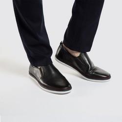 Men's leather slip on trainers, black, 86-M-900-1-40, Photo 1