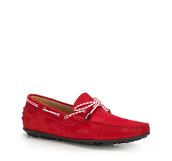Men's shoes, red, 86-M-906-3-41, Photo 1