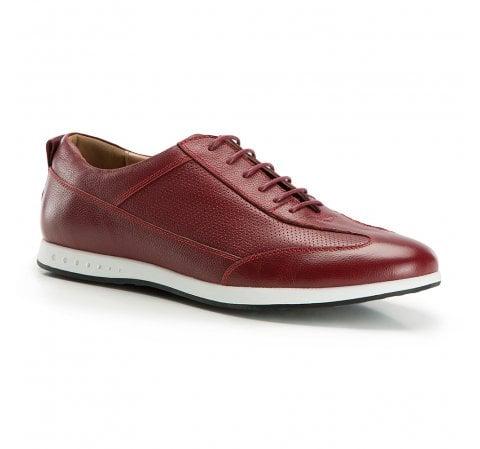 Męskie sneakersy z perforacjami, bordowy, 86-M-913-9-40, Zdjęcie 1