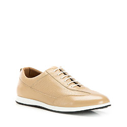Men's perforated trainers, beige, 86-M-913-9-42, Photo 1