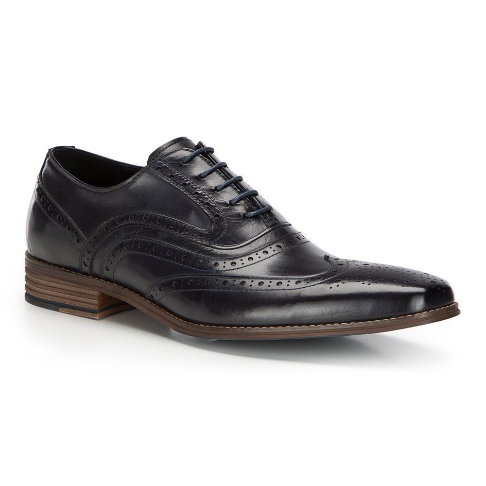 f9f1eb8e Granatowe pantofle męskie ze skóry licowej | WITTCHEN | 86-M-916