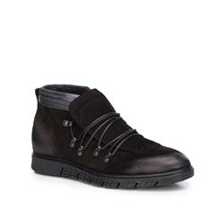 Men's shoes, black, 87-M-606-1-44, Photo 1