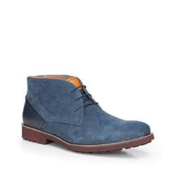 Men's shoes, navy blue, 87-M-820-7-40, Photo 1