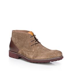 Men's shoes, light brown, 87-M-820-8-41, Photo 1
