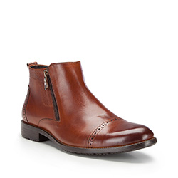 Buty męskie, brązowy, 87-M-827-5-42, Zdjęcie 1