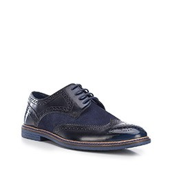 Buty męskie, granatowo - czarny, 87-M-853-7-44, Zdjęcie 1