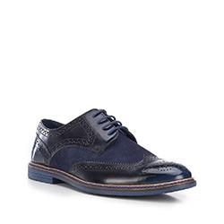 Buty męskie, granatowo - czarny, 87-M-853-7-45, Zdjęcie 1