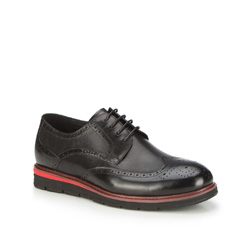 Men's shoes, black, 87-M-920-1-44, Photo 1