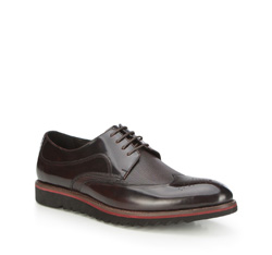 Men's shoes, mahogany, 87-M-921-2-39, Photo 1