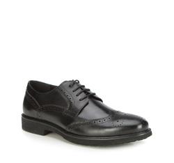 Men's shoes, black, 87-M-925-1-45, Photo 1