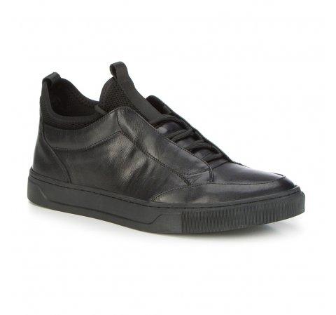 Męskie sneakersy ze skarpetą, czarny, 87-M-930-1-40, Zdjęcie 1