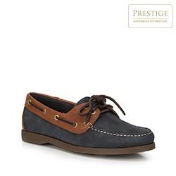 Men's shoes, navy blue-brown, 88-M-351-7-44, Photo 1