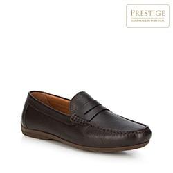 Men's shoes, dark brown, 88-M-353-4-43, Photo 1