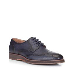 Men's shoes, navy blue, 88-M-502-7-44, Photo 1
