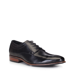 Men's shoes, black, 88-M-504-1-45, Photo 1